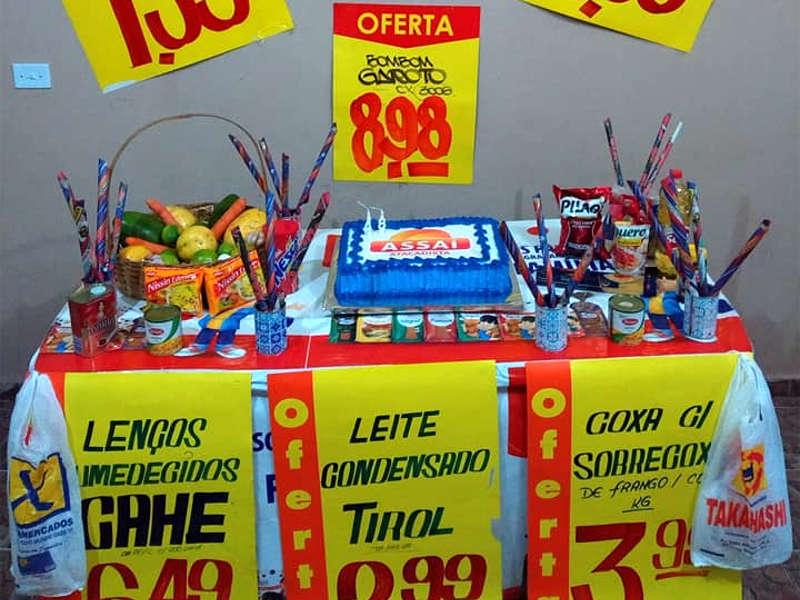 Aniversario com tema de supermercado faz sucesso na internet