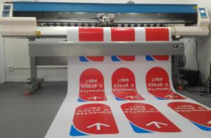 Impressão Digital - Adesivo Branco